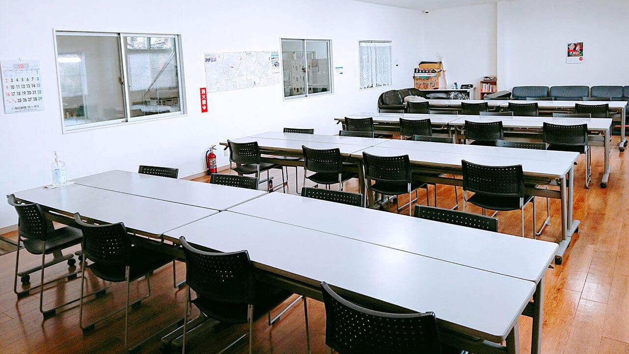 鶴ヶ島作業所の休憩所